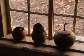 Gourds in the window.