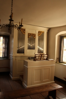 Organ in the meeting room.