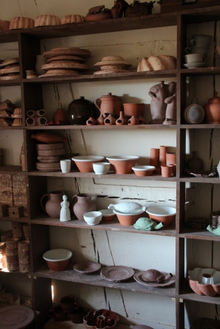 In the potters' shop.