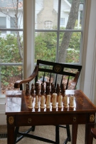 You too could feel very smart playing chess in your Harvard chair.